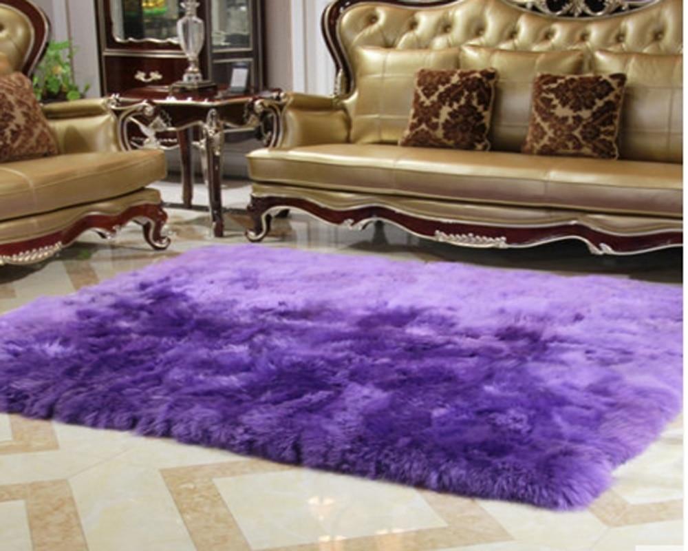 Genuine Real Fur Blanket Sheep Rugs