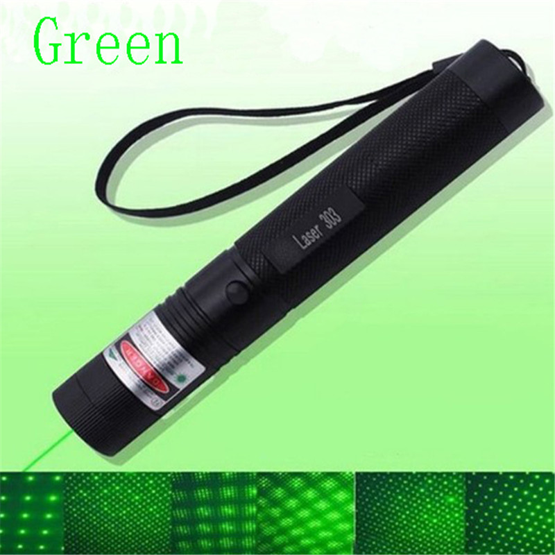 10000m Powerful Green Laser 303 Sight Metal Red Laser Pointer Adjustable Focus Portable Multiple Patterns Blue Lazer Pointer (2)