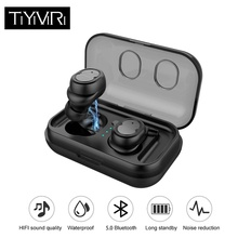 купить Wireless Earphones Waterproof Headphones Bluetooth Earphone True Stereo Earbuds Sports Headset with Mic for Smart Phones дешево