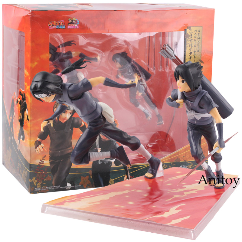 все цены на GEM Naruto Shippuden Uchiha Itachi & Sasuke Action Figures PVC Collectible Model Toy