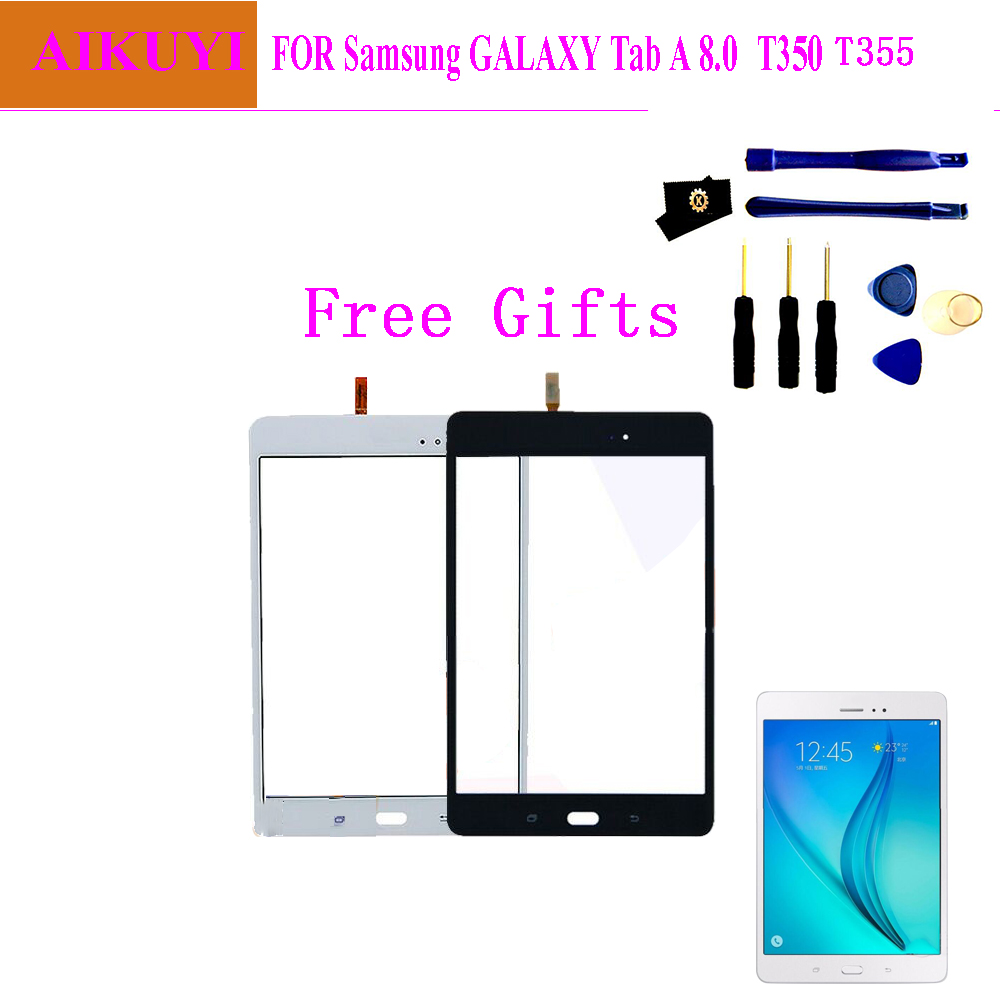 New Parts For Samsung Galaxy Tab A 8.0 T355 T350 SM-T355 SM-T350 Touch Screen Digitizer Sensor Glass Panel Tablet Replacement