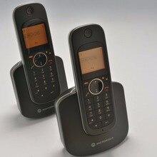 2 unids Teléfonos de Llamadas ID Digital DECT Inalámbrico EE. UU. Versión 2.4G D10 Teléfono Inalámbrico Digital Para El Hogar Oficina Negro