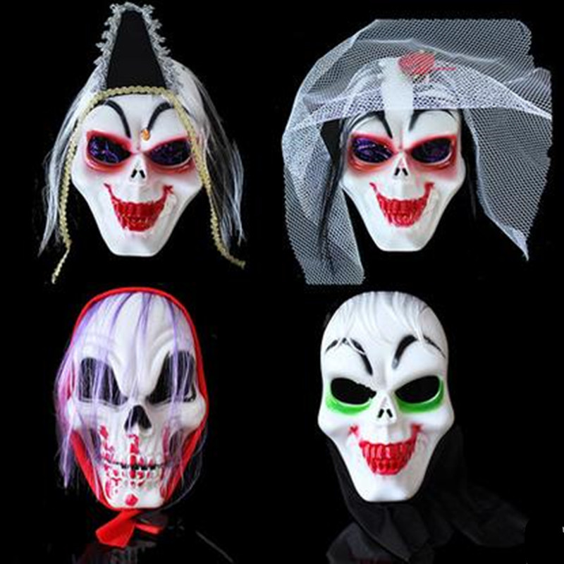 Novelty & Special Use Halloween Party Cosplay Scary Ghost Face Mask Halloween Toothy Zombie Bride With Black Hair Horror Ghost Head Mask Toy Costumes & Accessories