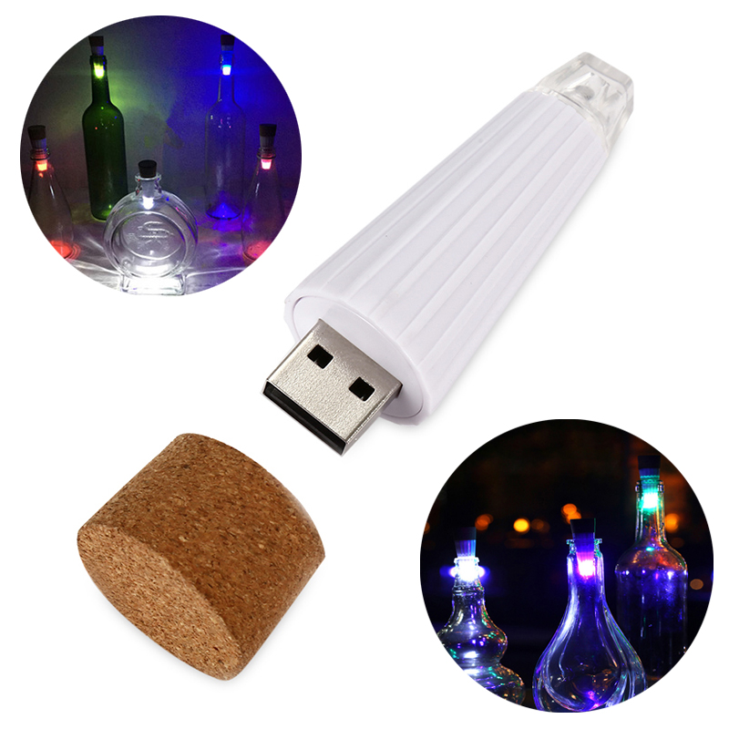 Cork Shaped Wine Bottle Light Rechargeable USB Night Light Cork Stopper Lamp Creative Romantic Lights for Home Party Decor creative wine bottle lamp usb rechargeable pouring wine led night light table desk lamp gift diy home decoration party lights