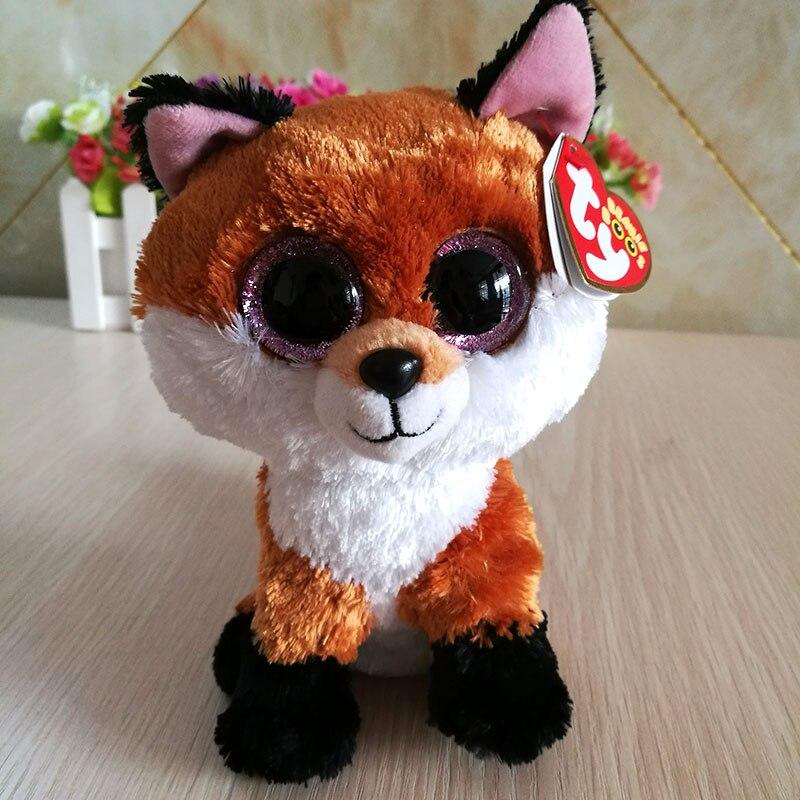 Beanie Boos 6-Inch Slick Brown Fox Plush Beanie Baby Plush Stuffed Doll Toy Coll