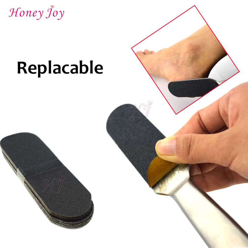 1 Set Pro Pedicure Feet Care Stainless Metal Handle and 10pcs of Coarse Grit Fine Grit Sanding Cloth Foot Rasp and Files Refill free shipping coarse medium fine grit 4 inch diamond turbo cup wheels m14 thread for grinding concrete and stone 3pcs set