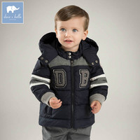DB7023 dave bella winter baby boys down jacket children white duck down padded coat kids hooded outerwear