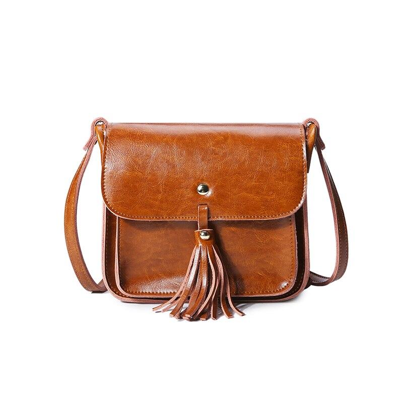 2018 Direct Selling 100% Genuine Leather Women Handbag Casual Shoulder Bag Vintage Flap Designer Purse Top Tassel Messenger Bags vintage designer 100