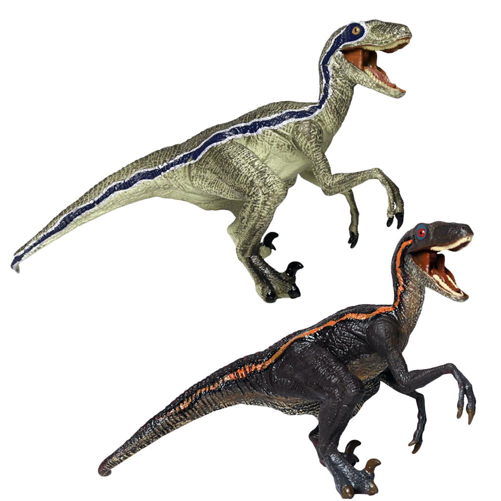 Velociraptor Simulation Model Children's Dinosaur Toy Animal Action Figures Jurassic Dinosaur Collectible Model Furnishing toy wiben jurassic carcharodontosaurus toy dinosaur action
