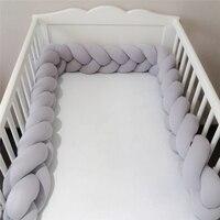 200 см детская кровать бампер узел длинные вязаные вручную тесьма ткачество плюшевые Детские защита для кроватки младенческий узел Подушка ...