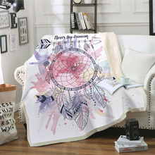 New Fashion Blanket Comfortable Soft Thick Double-layer Plush 3D Digital Printing Dream Catcher
