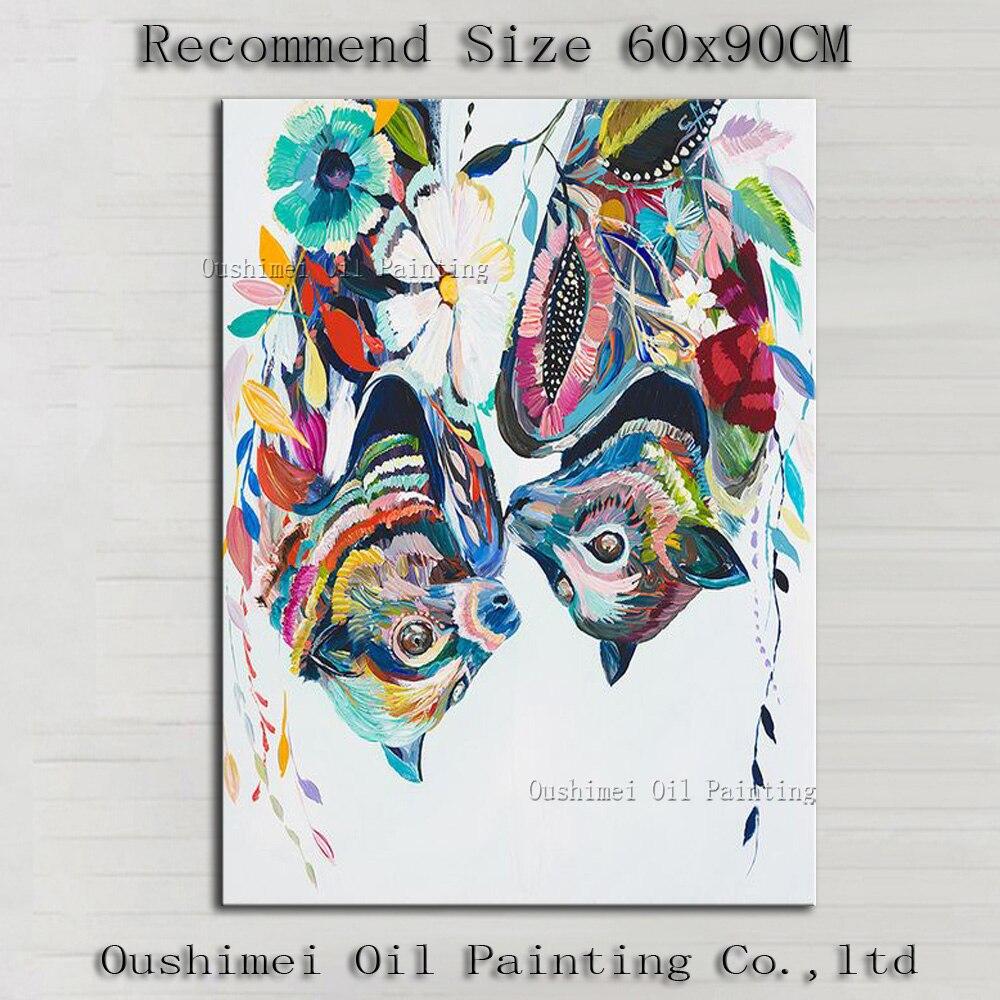 Pintados M O Imagem Moderna Na Lona Barato Abstrato Animais Fox  -> Quadro Abstrato Pra Sala Barato