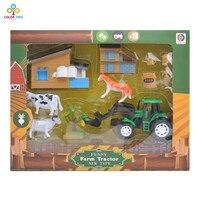 Mini Farm Toy Set Baby Kid Simulated Farm Play Toy Set Cow Farmer Truck Childs Pretend