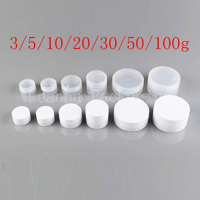 Empty Cosmetic Container Sample Cream Bottle Small Plastic Pot Jar For Cosmetic Packaging Balm Jars Solid