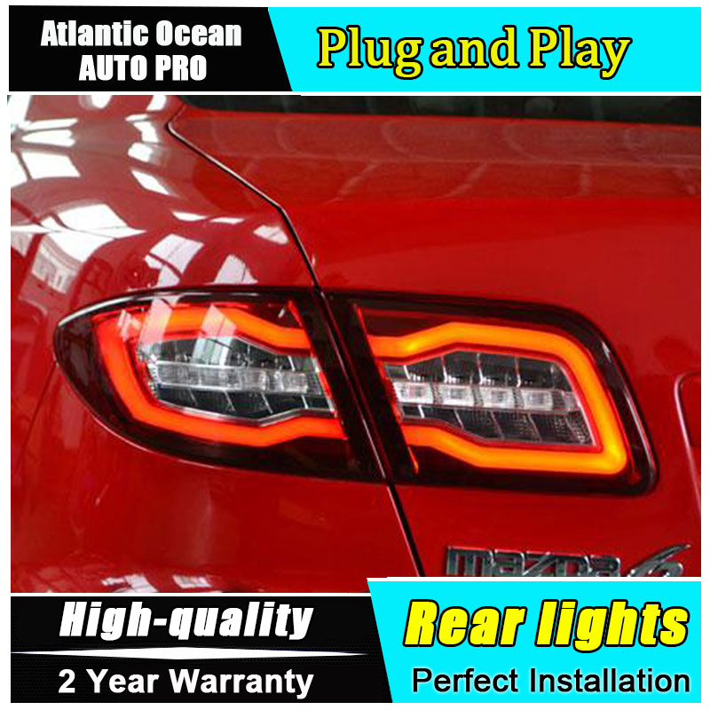 A&T Car Styling for Mazda 6 Taillights 2004 2013 Mazda6 Classic LED Tail Lamp Rear Lamp DRL+Brake+Park+Signal led lights