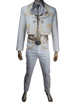 Unisex Coco (2017 film) musician Ernesto cosplay costume tuxedo Halloween make up carnival costume skeleton suit uniform