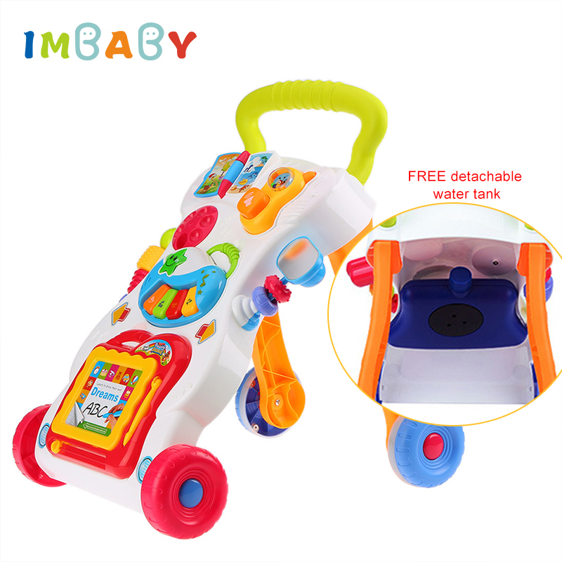 Toy Learning Walker Toddler Kids Baby Push Sit Play Stand Panel Walking Exercise