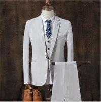 New Mens Suits White Luxury Brand Suit Men Tuxedo Party Mens Dress Suit 3 Pieces Wedding Slim Fit blazer Set Designs Men Suits