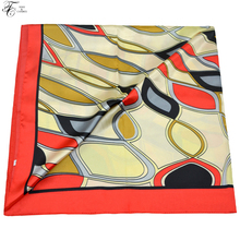 90*90 CM Silk Scarf Square Tony&Candice Brand New Arrival Women Scarves Satin Silk Shawl Ladies Decorations Soft Flowers Bandana