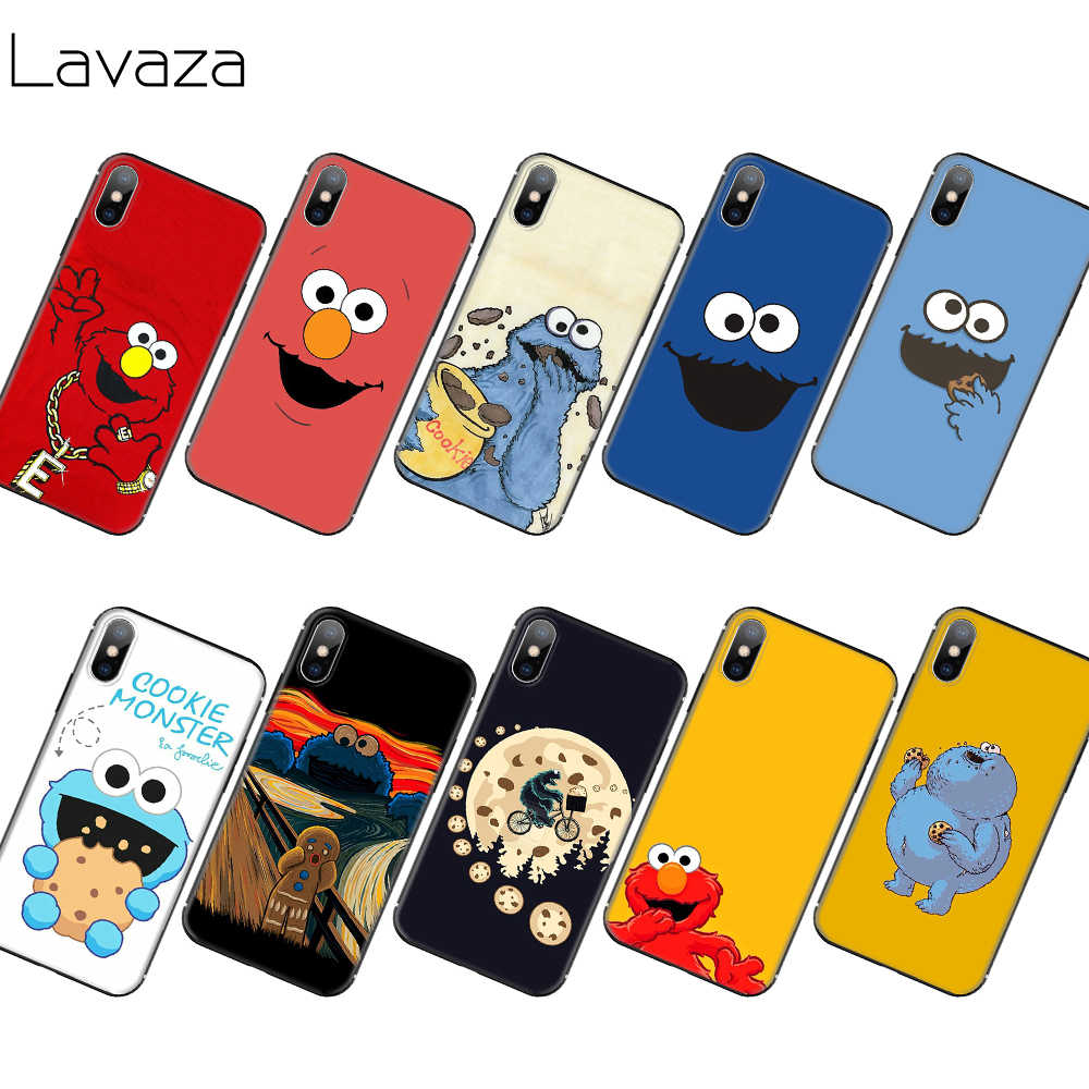 Lavaza Elmo Cookie Monster Mềm TPU cho iPhone 11 Pro XS Max XR X 8 7 6 6S plus 5 5S SE