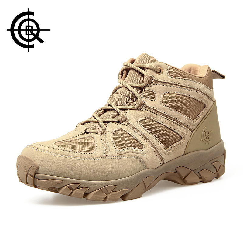 CQB Outdoor Hiking Shoes Walking Men Climbing Shoes Sport Boots Hunting Mountain Shoes Non-slip Breathable Hunting Boots SL005B3 high quality men hiking leather mesh botas climbing boots male rubber sole outdoor mountain shoes non slip breathable sneaker