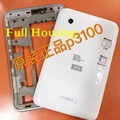 Original Genuine White/ gray full Housing Cover Back Cover Battery Door For Samsung GALAXY Tab P3100 P3110 Housing Cover