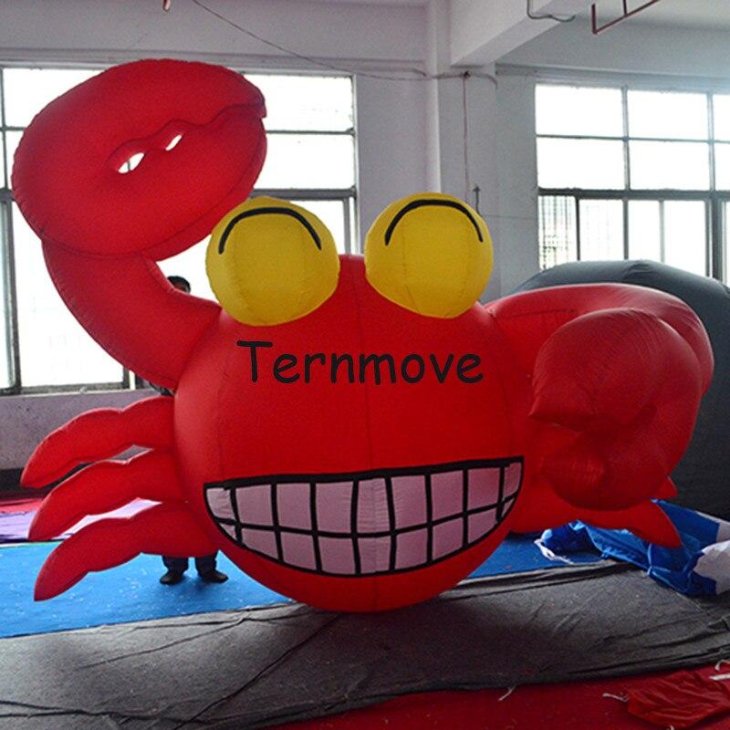 Crabe gonflable géant, écrevisse gonflable crevettes homard modèle publicité extérieure océan thème décor réplique mascotte