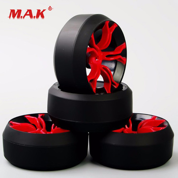MPNKR+PP0367 1/10 Scale Drift Tires and Wheel Rims with 12 mm Hex fit RC HSP HPI On-Road Racing Car Model Accessories image
