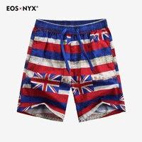 Eosnyx Union Jack Pattern Unisex Beach Shorts Women Men Quick Dry Pants