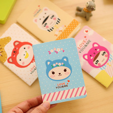 4pcs/lot 12*8.5cm South Korea Cute Cartoon Cat Girl Little Notebook Notepad Diary Student Prize Gift Stationery Small Book