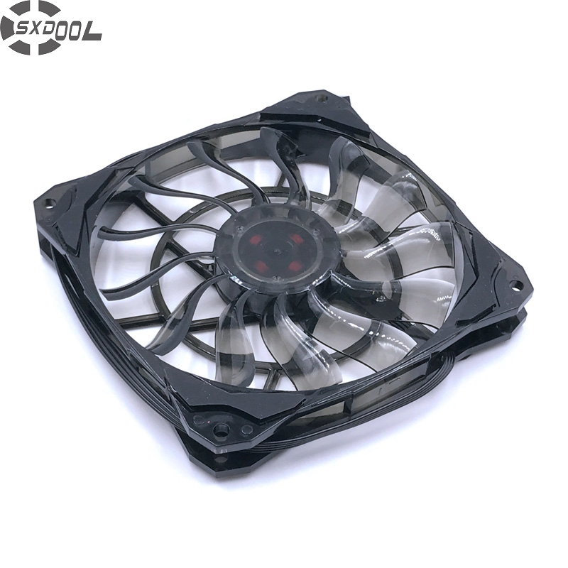 SXDOOL Slim 15mm Thickness, Best for Small Case, Big Airflow of 53.6CFM <font><b>120mm</b></font> <font><b>PWM</b></font> Controlled <font><b>Fan</b></font> With De-vibration Rubber image