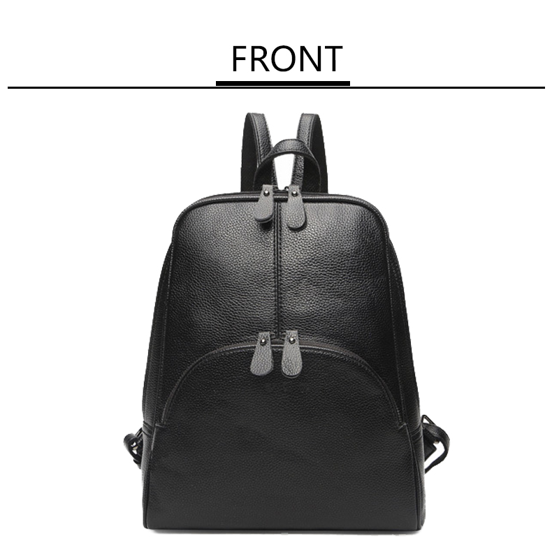Fashion Shoulder Bag cow Leather Women Girls Ladies Backpack Travel bag freeshipping
