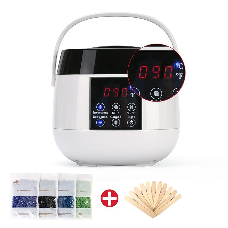 Wax Hair Removal Tool Smart Professional Warmer Wax Heater SPA Hands Feet Epilator Depilatory Skin Care Paraffin Wax Machine Kit