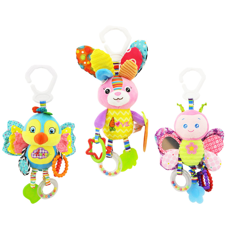 Amicable Plush Bed Baby Toys Hanging Bell Baby Rattle Mobile Stroller Rabbit Bb Bed Bell Paper Rubber Rings For Newborn Baby Elegant And Sturdy Package