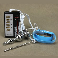 Electric Shock Butt Plug Pulse Therapy Metal Vibrator Butt Beads Massage Medical Themed Big Dildo Vibrating Anal Plug Sex Toys