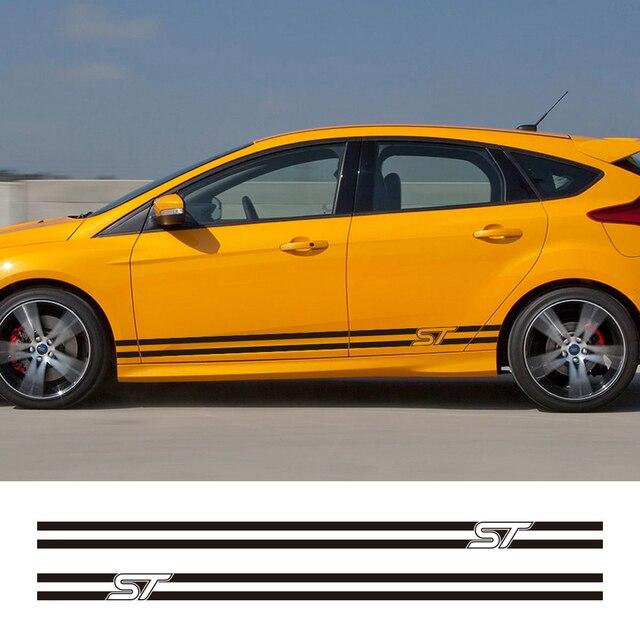 2 Stücke Auto Seite Streifen Aufkleber Stilvolle Grafiken Vinyl Film Automobil Styling Für Ford Focus St Tuning Zubehör