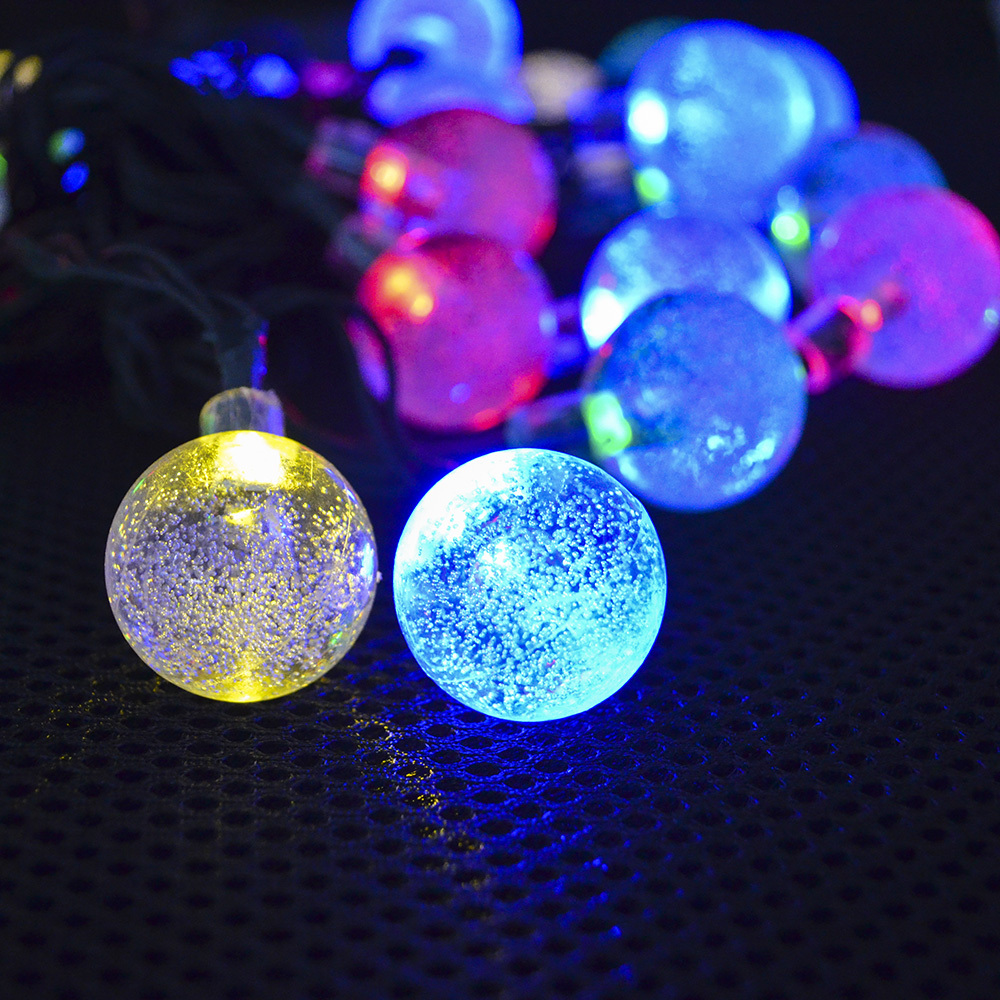 Multicolor 6m 30 Led Super Bright Solar Bubble Fairy String Lights Outdoor