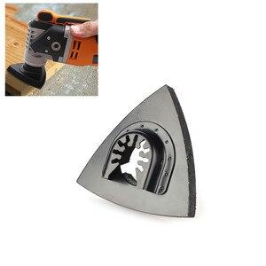 Image 1 - 1 adet 80Mm çok amaçlı bıçaklar zımpara pistonlu testere bıçağı gömme üçgen salınımlı ev güç aracı Fein Multimaste