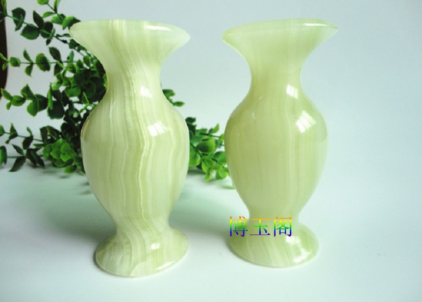 Chinese Natural Ice Wrapping Natural Stone Vase Home Furnishing