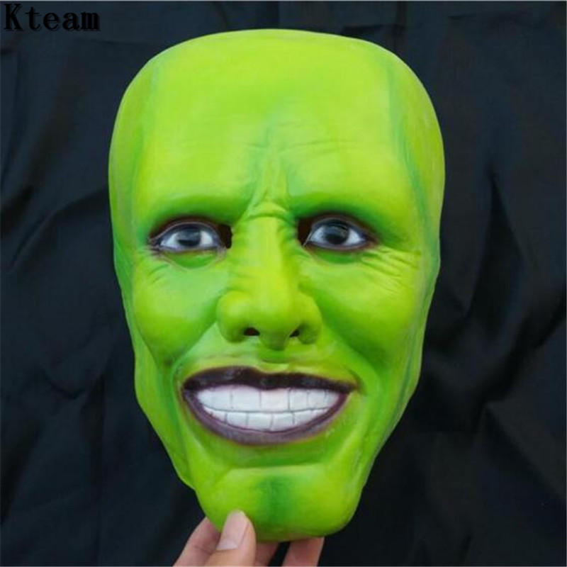 New Funny The Jim Carrey Movies Mask Cosplay Green Mask Costume Adult Fancy Dress Face Halloween Masquerade Party Cosplay Mask image