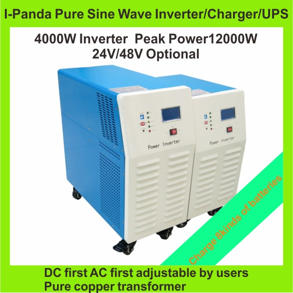 Off-Grid Solar 4000W pure sine wave power inverter 12 V /24V /48V коврик в багажник vw golf plus 12 2004 х б полиуретан