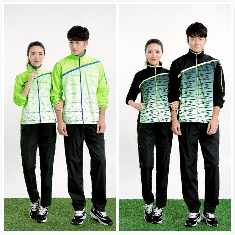 Для мужчин осень/зима с длинными рукавами Бадминтон куртка, Fast Dry настольным теннисом спортивные Майки костюмы, пинг-Понг теннис Штаны Поезд...