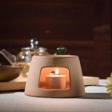 Creative Warm Tea Stove Ceramic Coarse Pottery Teapot Holder Shelf Kung Fu Tea Set Accessories Candles Heating Coffee Sake Base