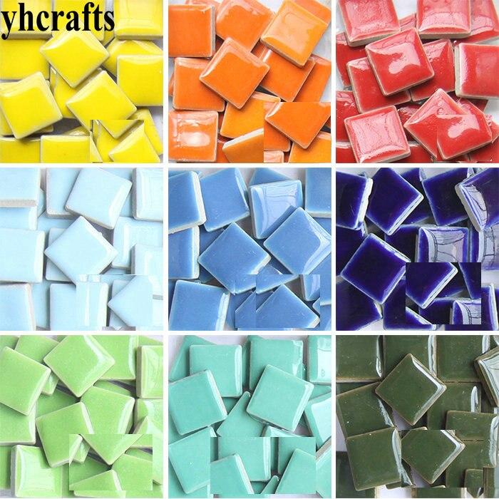 140PCS/600Gram/Lot Mix 2cm Ceramic Mosaic Tile Scramble Tiles Porcelain Mosaic Craft Material Adult DIY Arts And Crafts OEM