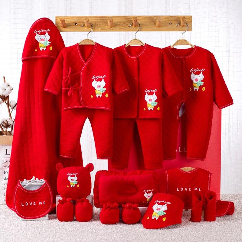 14 pièces/ensemble nouveau-né bébé filles vêtements épais coton 0-6 mois nourrissons bébé fille garçons vêtements ensemble bébé cadeau ensemble sans boîte