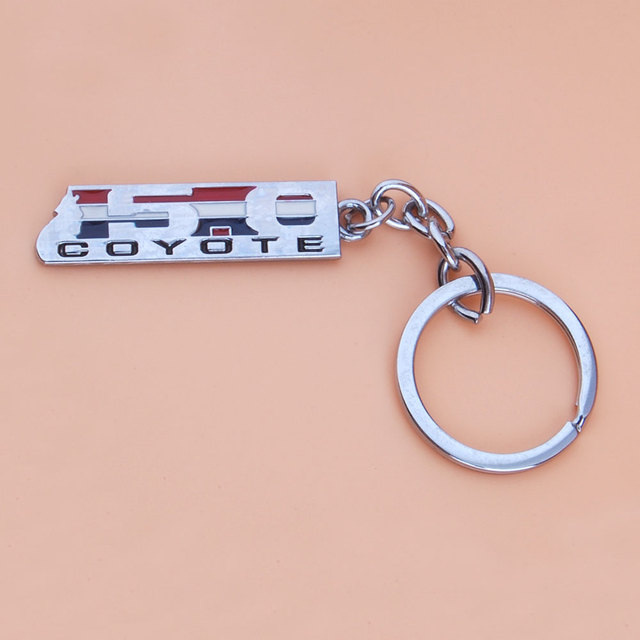 Bbqfuka Pcs Car Styling   Coyote Emblem Sticker Car Key Ring For Ford F