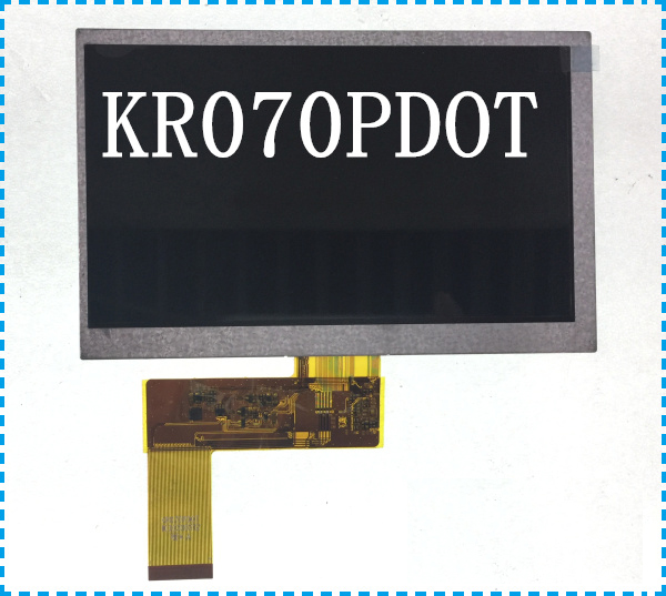 Original 7 inch LCD screen display with KR070PDOT navigator original LCD screen ultra thin 7 touch screen lcd wince 6 0 gps navigator w fm internal 4gb america map light blue