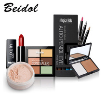 Class Makeup Set Magical Halo Makeup Combination Lipstick + Loose Powder + Eyeshadow Pencil + Concealer + Bronzer Press Powder
