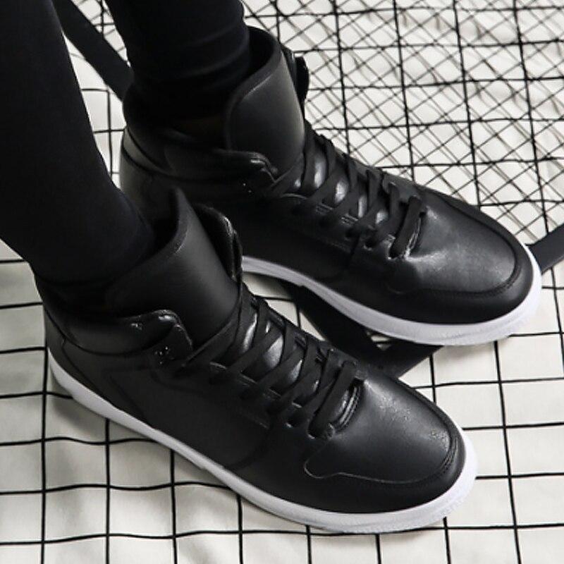 Mode Chaussures Pour Haute Étudiants De Pu Nouvelles automne Les Dentelle Printemps Hommes Massage Coudre up black Casual 2019 À Vulcaniser White 5pqvXX