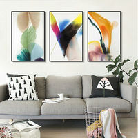 6PModern Abstract Hotel Villa Southeast Asia Thai Black And White Abstract Combination D Version Small Paintings